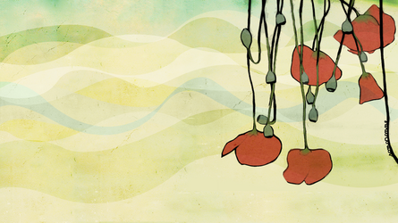 poppies wp. by Luincale