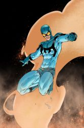 BLUE BEETLE (Brett Booth and Norm Rapmund) by HooliganAlley