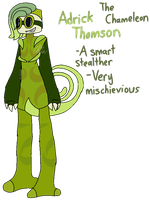 [Animal Yakuzas]-Adrick Thomson the Chameleon by HerrenLovesFNAF