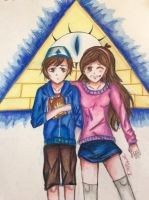 Dipper and Mabel Pines by Dana-Mireille