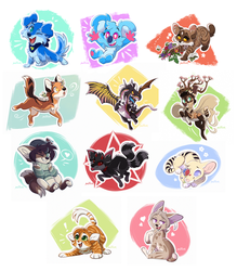 Chibis Batch Two by Nightrizer