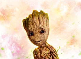 Baby Groot by p1xer