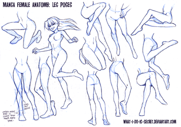 Manga Female Leg Poses by what-i-do-is-secret