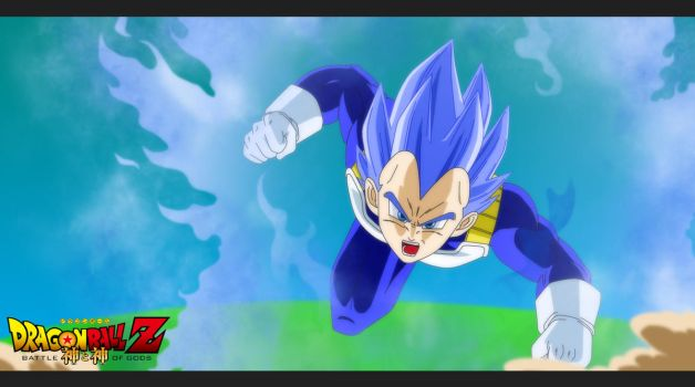 Vegeta Super Saiyan God by ElyasArts