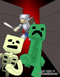 Minecraft Diary of a Creeper 06 by skeletonsteveco