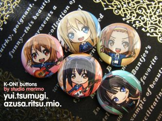 K-ON! Buttons by studiomarimo