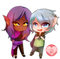 [PC] Chibi Suowik and Chibi Basil by Vivi-Chuu