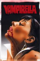 Vampirella 5 Painted Cover by mikemayhew