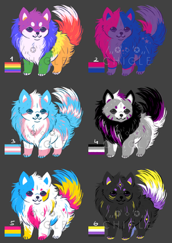 pride doggos adopts [ OPEN ] by Chigle