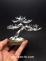 Snowy Wire Bonsai tree sculpture by Ken To by KenToArt