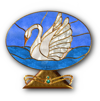 Stained Glass Swan by Christi-Dove