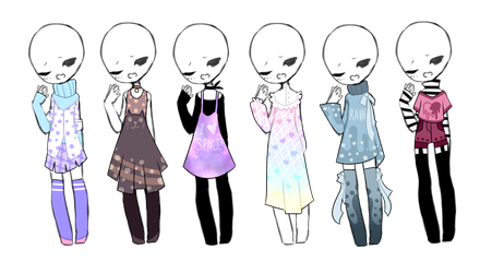 SP Outfit Adopts (3/6 OPEN) by ImaginationTrap