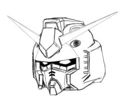 Gundam Head PChat Sketch by GundamWingEX