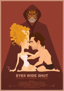 Eyes Wide Shut - Illustrated Poster by kyle-lambert