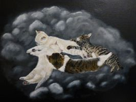 Babies-Acrylic painting on canvas by Actlikenaturedoes