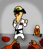 SCP-173 the Karate Master by DerpySuperHero