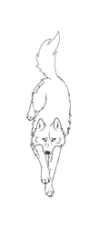 Wolf free lineart by Nici-wolf