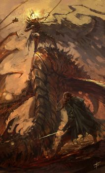 'Eowyn and the Nazgul' contest by VBagi