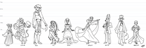 OC Pageant Round 1 - First 9 Guests by Gwennafran