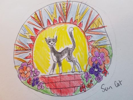 Tattoo concept - Sun Cat by femalefred