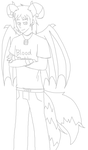 Sketch of REFan69 (commission) by Gameaddict1234