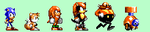 Sonic Chaos: Knuckles and Mighty Sprites by Team-Lava