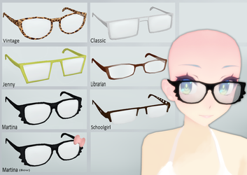 MMD Glasses Pack - 20 Points! by MMD-Reino
