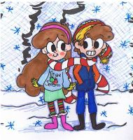 Twins During Winter by Suivre