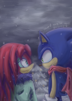 Commission - Sky and Sonic by tabiki999