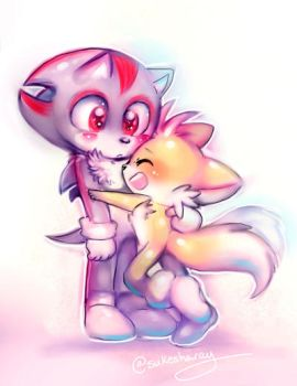 Sonic Kids: Tails Glomp by Sukesha-Ray