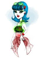 Monster High Ghoulia by JessicaGuarnido