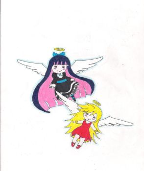 chibi panty and stocking by jazzy1lol