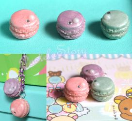 Pearl Macaron Charms by PetiteWishes