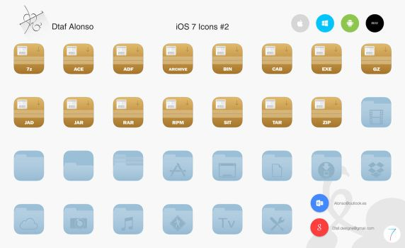 iOS 7 Icons #2 by dtafalonso