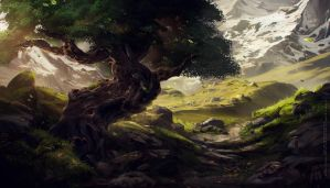 lonely tree by sheer-madness