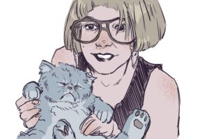 Kitty Rotoscope Animation in Color by Carliihde