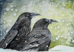Raven About It    (From a photo by Brian Burnett) by tiletable