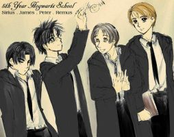 Sirius-James-Peter-Remus by maru-