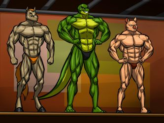 Bodybuilding Competition by Kostosart