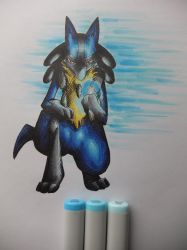 Lucario by ImmaCatastrophe