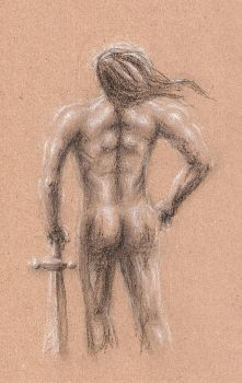 Figure Study 'Barbarian' by Angry-Eyeball