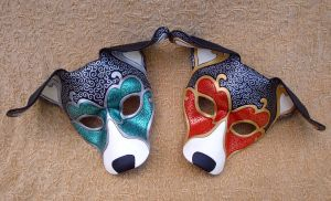 Two Venetian Hound Masks by merimask