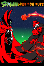 SPAWN vs DEMON FUSE cover page by Jesse-the-art-maker