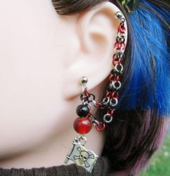 Pirate Cartilage Chain Earring by merigreenleaf