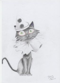 Cat with hat by Blancaaa