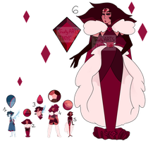 Gem Adopt / Red Rose Court ( CLOSED ) by TrustyArts