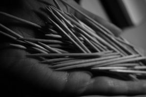 Hand with Toothpick_09 by MariStel