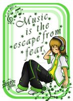 Music is the escape from fear by niekje-chan
