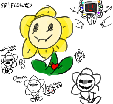 |SRTALE| Flowey Sketches by superhorse18