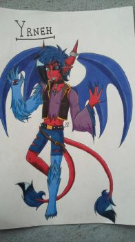 Yrneh the demon by HiroUltimate